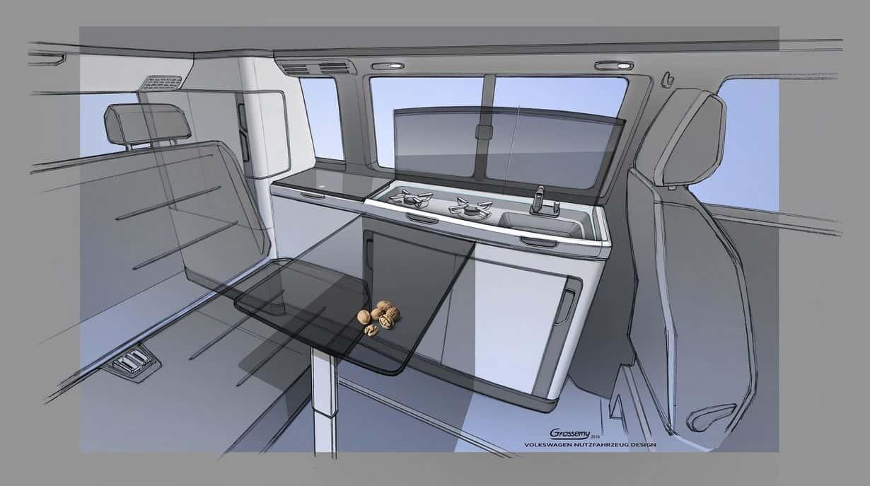 Volkswagen California 6.1 - wnętrze kampera