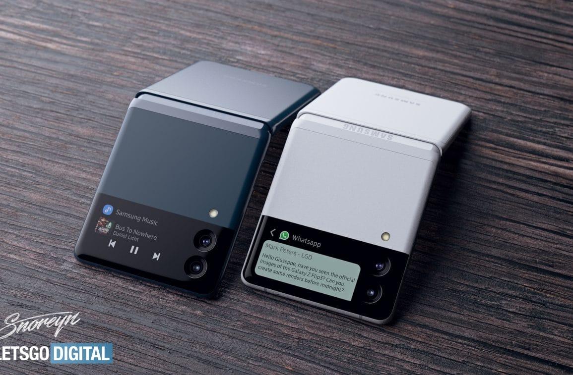 Samsung Galaxy Note Z Flip concept