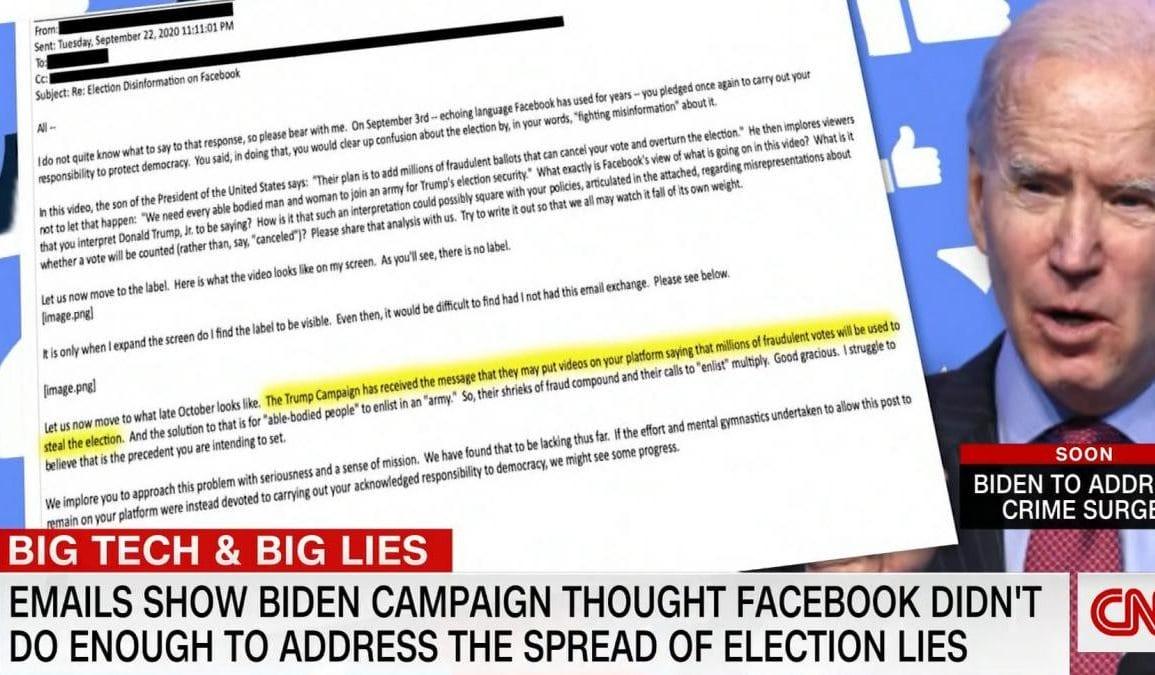 Trump zablokowany przez Facebook za sprawą nacisków sztabu Bidena?