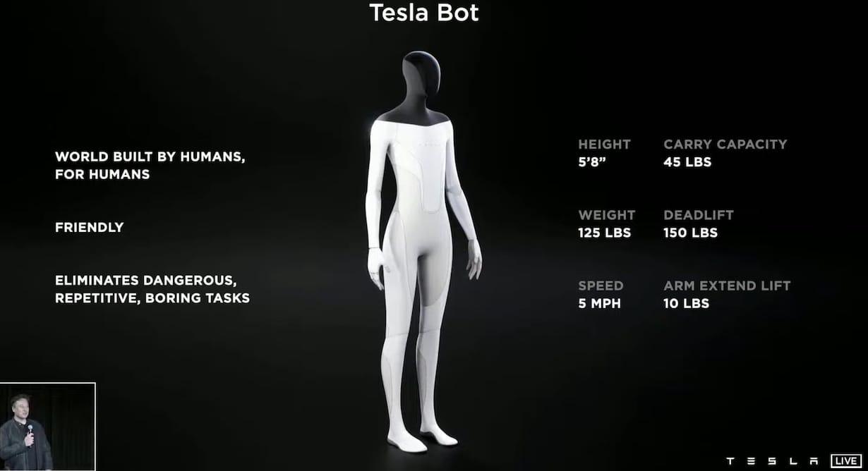 Humanoidalny robot Tesla