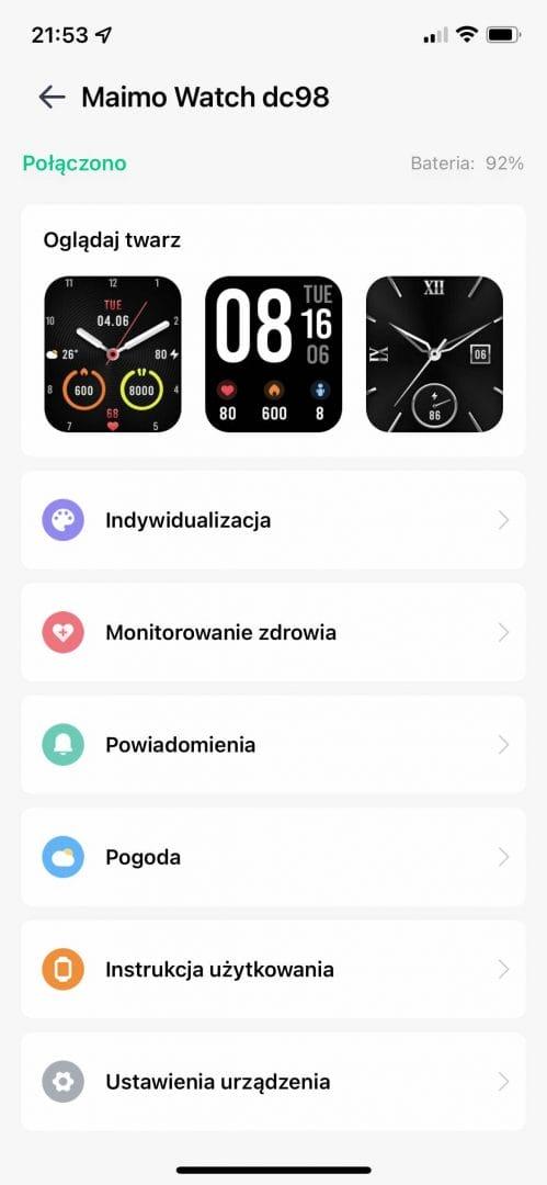 Maimo Watch - smartwatch marki 70mai